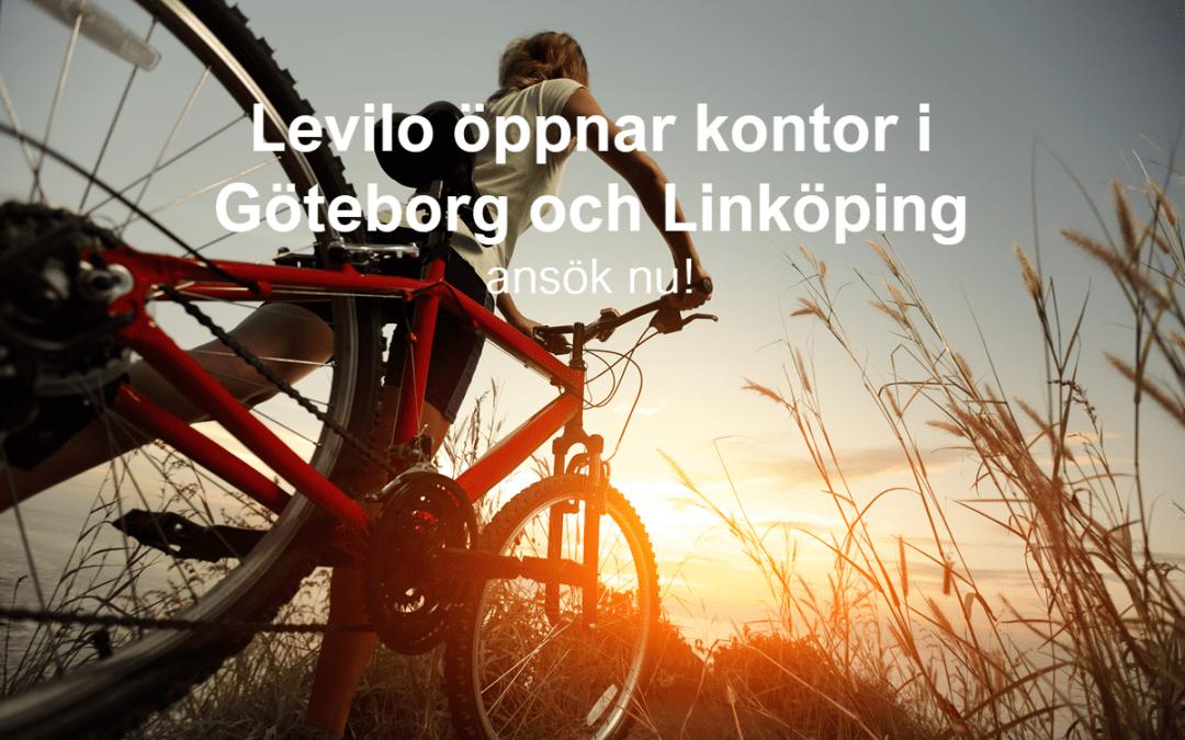 Levilo öppnar kontor i Göteborg och Linköping