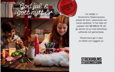 I år har Levilo valt att stötta Stockholms Stadsmission med ett julpaket.